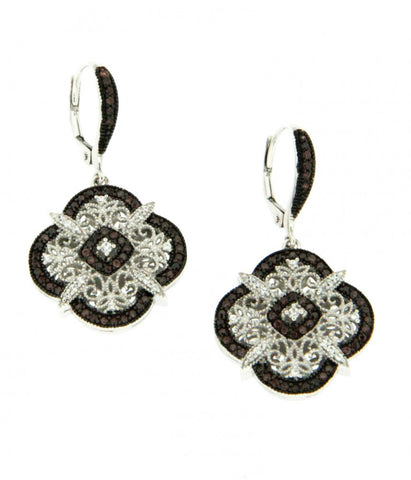Keith Jack Sterling Silver Brown CZ Earrings