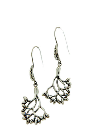 Keith Jack Sterling Silver Tree Of Life Earrings