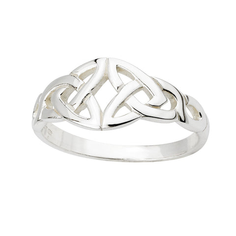 Solvar Silver Double Trinity Ring