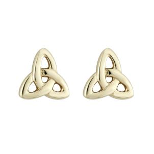 14 K. Yellow Gold Mini Trinity Knot Stud Earrings