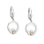 Solvar Sterling Silver & 10K. Gold Claddagh Earrings