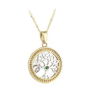 Solvar 14K. Gold Tree of Life Pendant