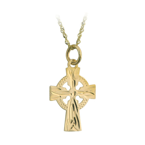 Solvar 14K. Gold Small Celtic Cross