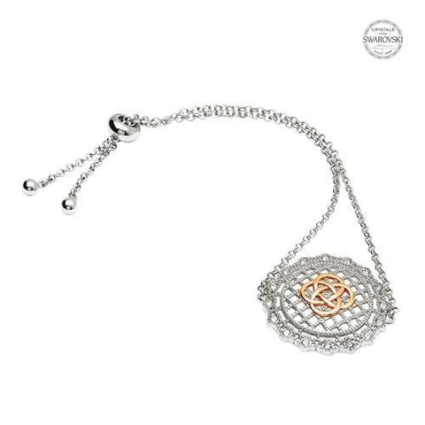 ShanOre SS Swarovski® Irish Lace Rose Gold Bracelet