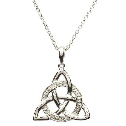ShanOre Celtic Trinity Knot Diamond Set Pendant