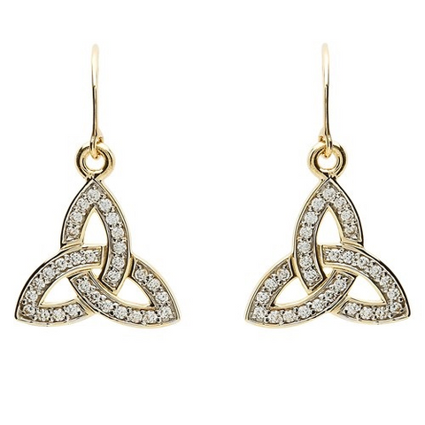 ShanOre 10 Karat Gold CZ Trinity Earrings