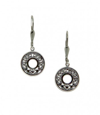 Keith Jack Celtic Claddagh Round Earrings