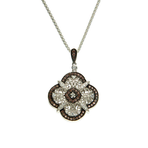 Keith Jack Sterling Silver Brown CZ Reversible Pendant