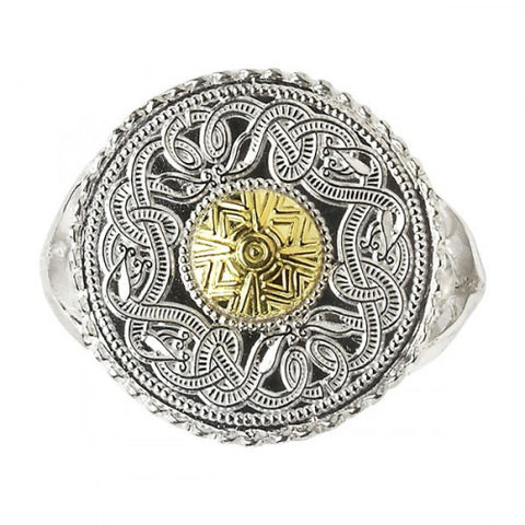 Ború Warrior Shield Ring 18K Bead
