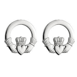 Solvar Sterling Claddagh Stud Earrings