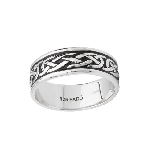 Sterling Silver Sheelin Enamel Celtic Ring