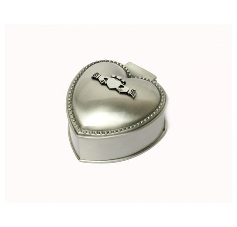 Mullingar Pewter Heart Shaped Jewelry Box