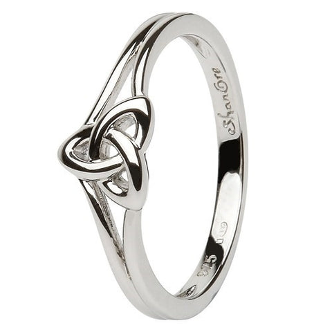 ShanOre Sterling Silver Single Trinity Knot Ring