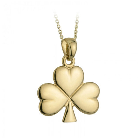 Solvar 14 Karat Yellow Gold Shamrock Necklace