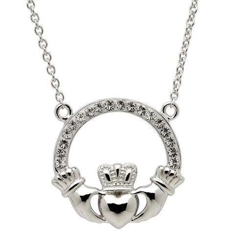 ShanOre SS Swarovski Claddagh Necklace