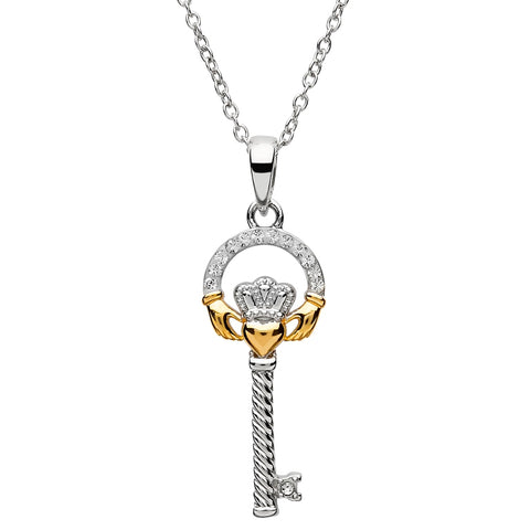 ShanOre SS Swarovski® Claddagh Two Tone Key