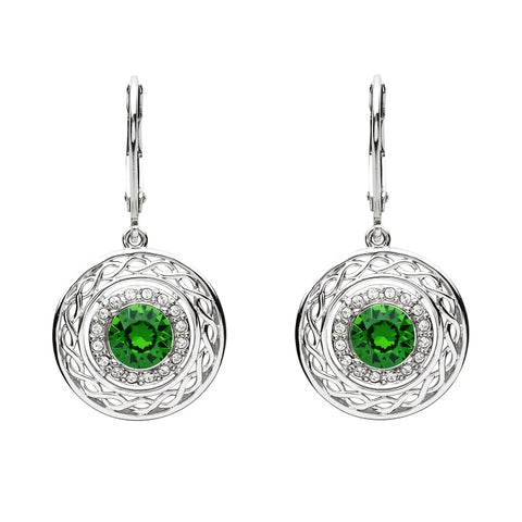 ShanOre SS Swarovski® Celtic Halo Earrings