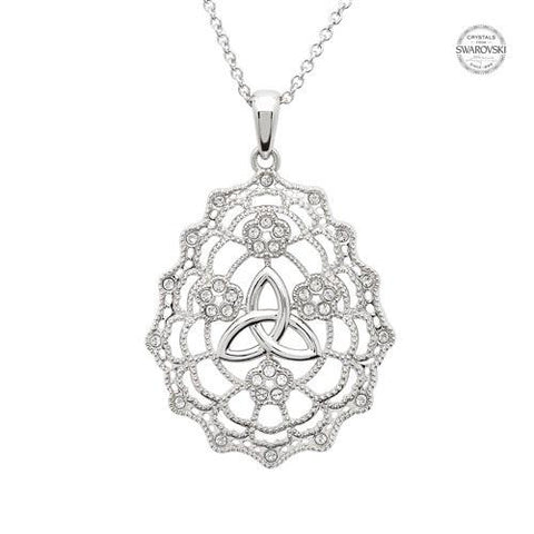 ShanOre SS Swarovski® Irish Lace Trinity Necklace