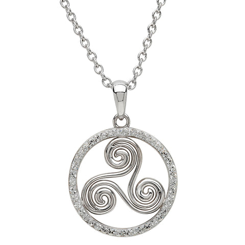 ShanOre SS Swarovski® Celtic Swirl Necklace