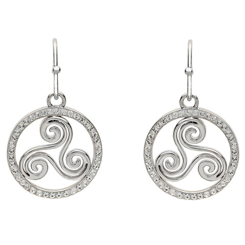 ShanOre SS Swarovski® Celtic Swirl Earrings