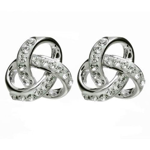 ShanOre SS Swarovski® Trinity Knot Earrings