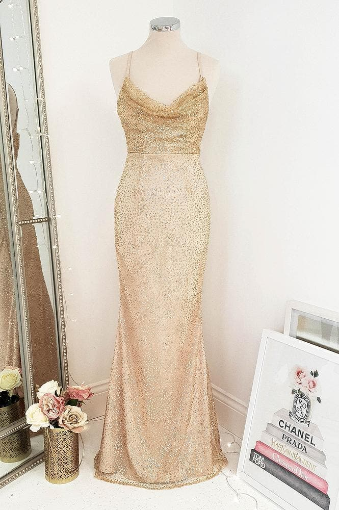 Glamour Girl Glitter Gown Gold