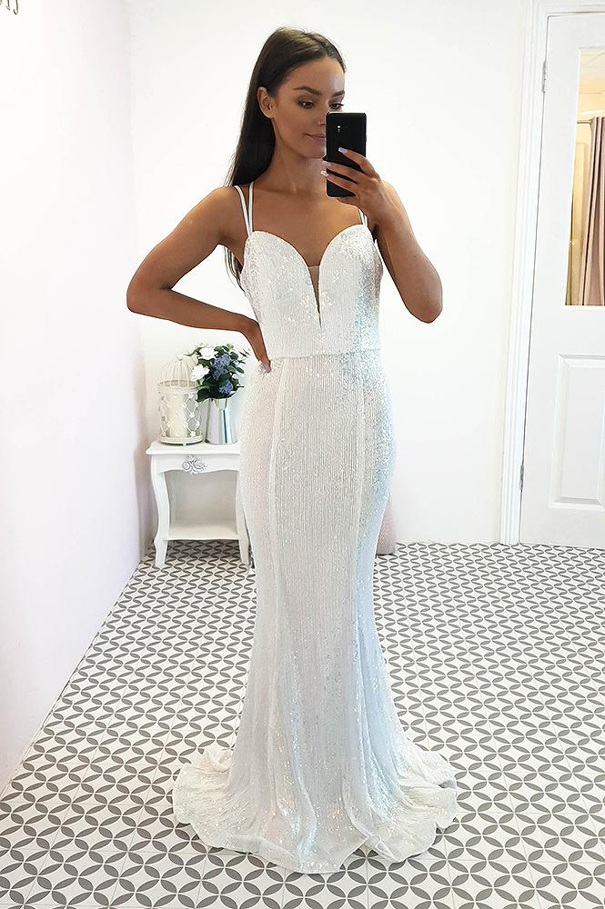 Laurita Opal Blue Sequin Gown