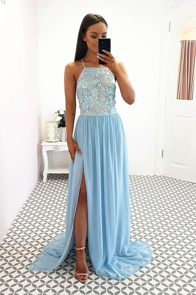 Diaz Maxi Dress Dusty Blue