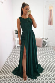 Varina Gown Hunter Green