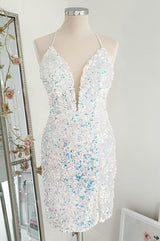 Rossano Mini Dress Opal Sequin