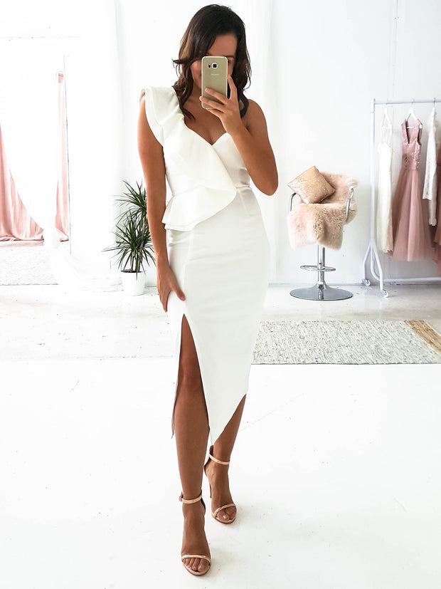 Candice Midi Dress White