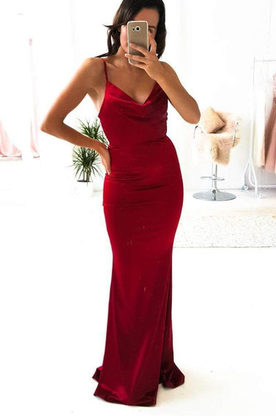 Glamour Girl Gown Berry Red