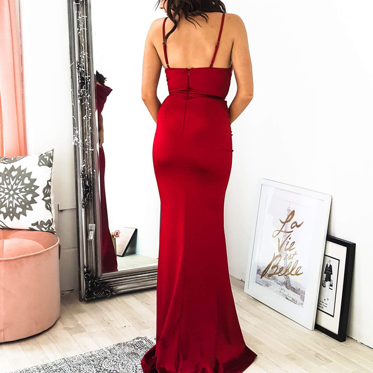 PRE-ORDER Glamour Girl Gown Berry Red