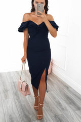 Sienna Midi Dress Navy
