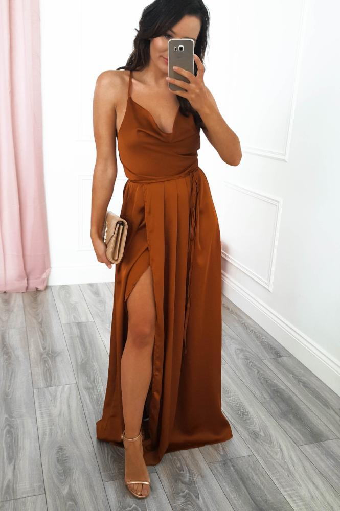 Sahara Maxi Dress Rust