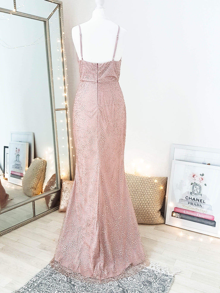 PRE-ORDER Glamour Girl Glitter Gown Rose Gold