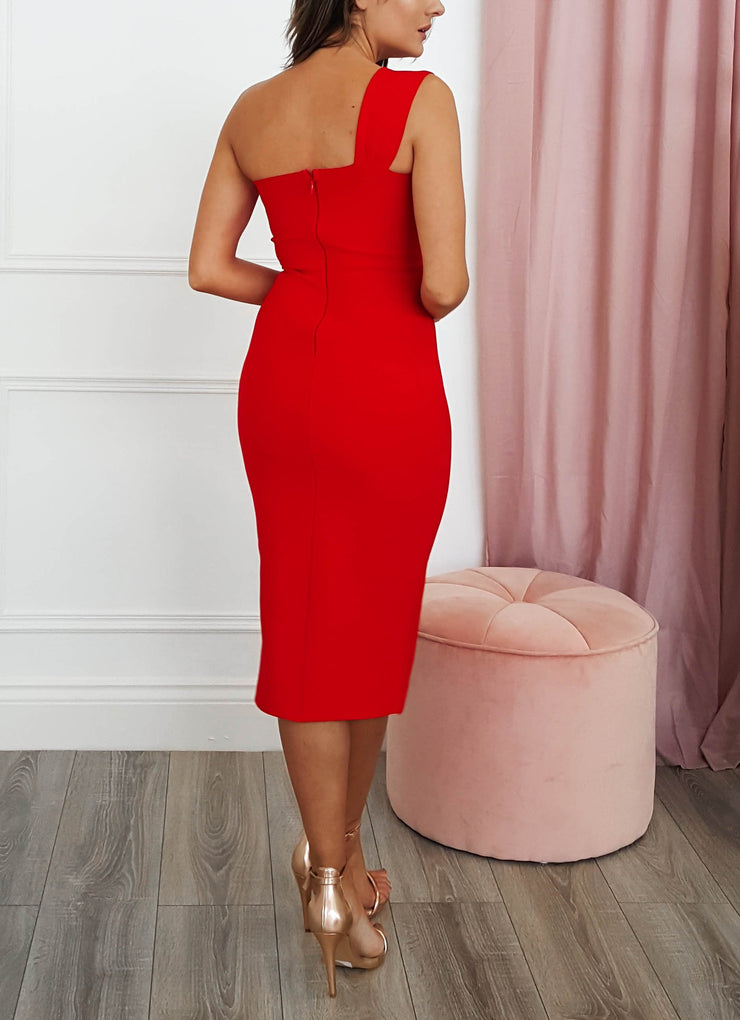 Selena Bandage Dress Red