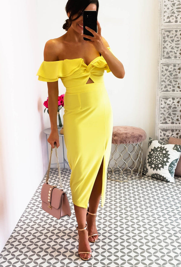 Alba Midi Dress Yellow