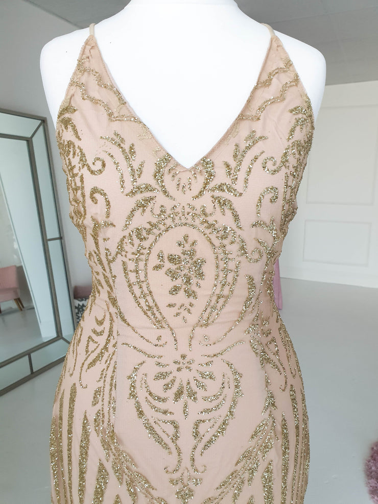 Kalissa Gown Gold