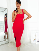 Janelle Midi Dress Red