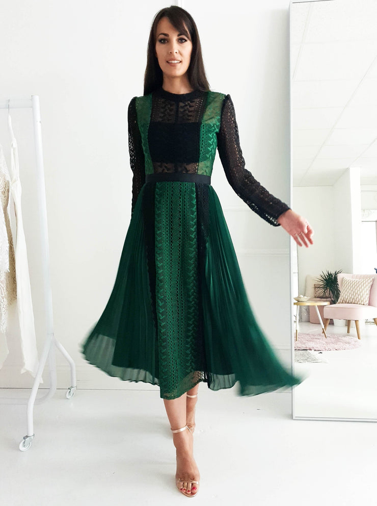 Diana Lace Midi Dress Green