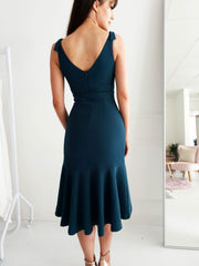 Hamilton Midi Dress Dark Teal
