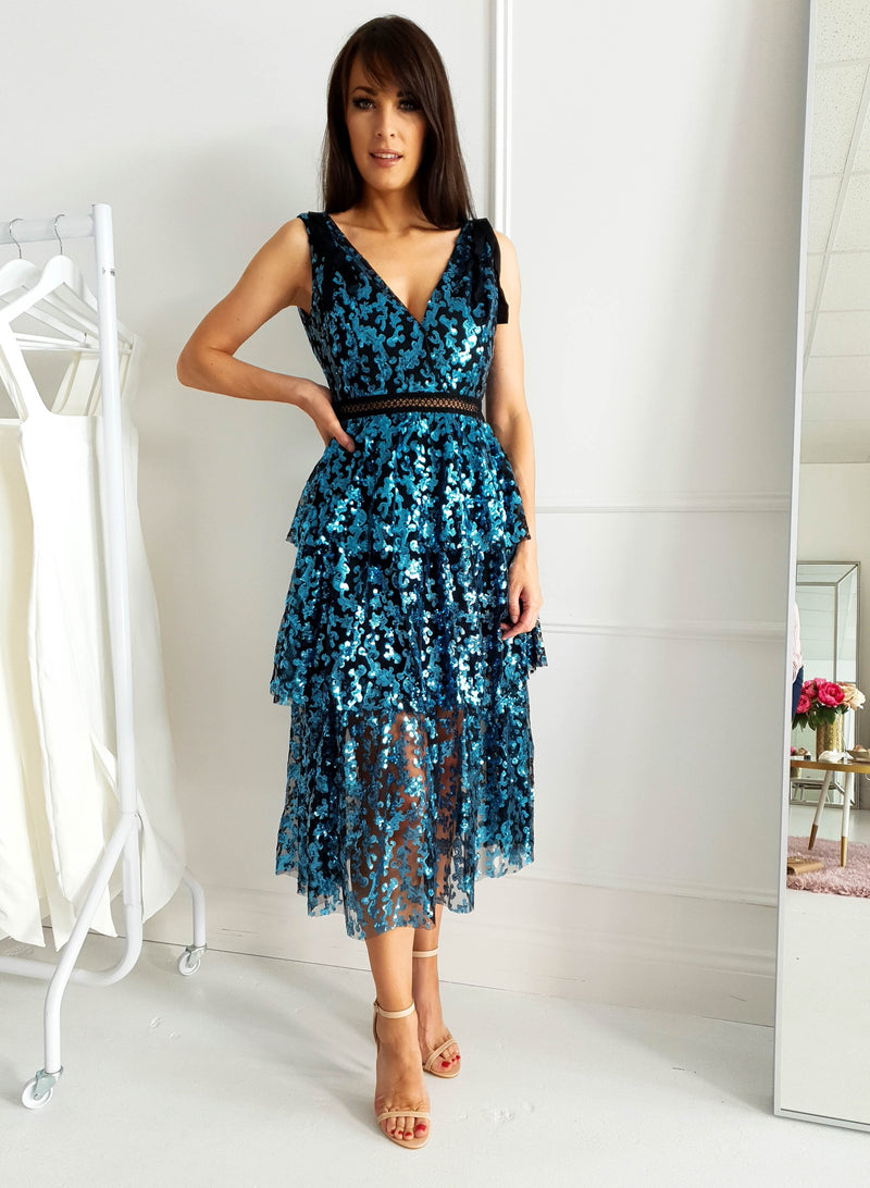 Kala Sequin Midi Dress
