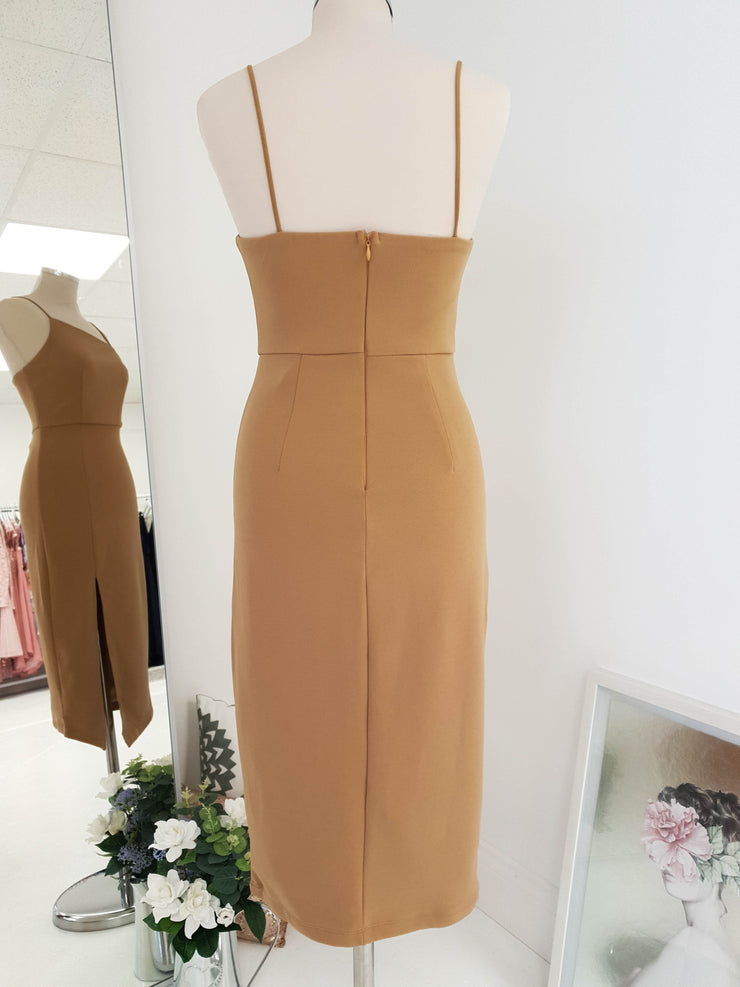 Presley Midi Dress Tan