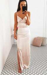 Giselle Maxi Champagne Rose