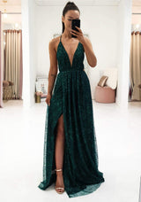Lavida Maxi Gown Dark Green
