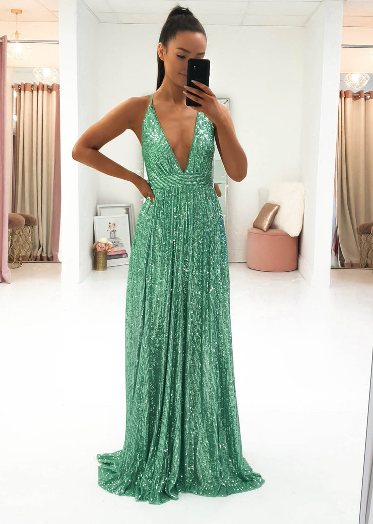 Silvia Sequin Maxi Mint