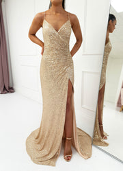 Kalila Gown Gold Sequin