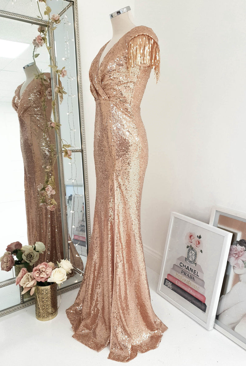 Gatsby Gown Rose Gold