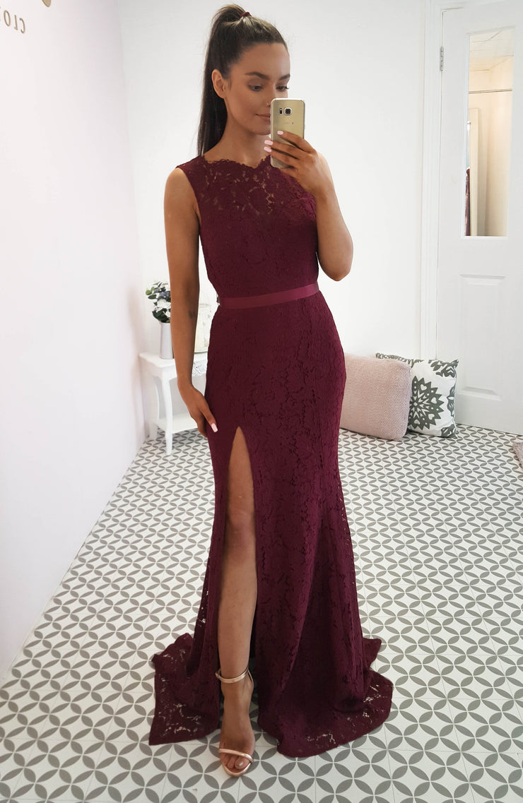 Mallory Gown Burgundy
